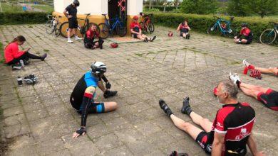 Photo of Zondag 19 april:  3de keer alleen fietsen, maar toch weer zo samen!